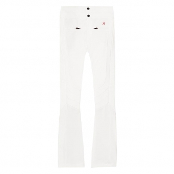 PERFECT MOMENT Aurora High Waist Flare Ski Pants in Snow White
