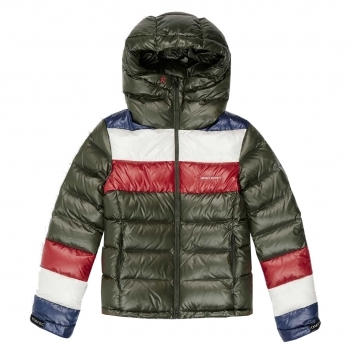 PERFECT MOMENT Lily Star Puffer Ski Jacket in Dark Green