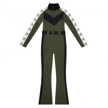 PERFECT MOMENT Ryder One Piece Ski Suit in Dark Green