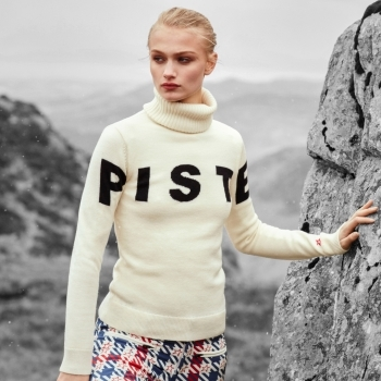 PERFECT MOMENT Piste Sweater II in Snow White