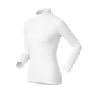 Odlo Warm Shirt L/S Turtle Neck Womens Baselayer  in White
