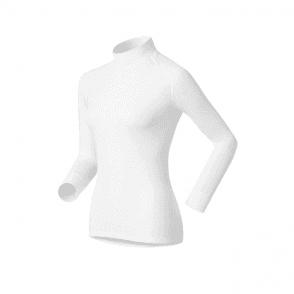 Odlo Warm Shirt L/S Turtle Neck Womens Baselayer  in White