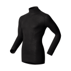 Odlo Warm L/S Shirt Turtle Neck Mens Baselayer in Black