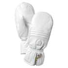 Hestra Leather Swisswool Classic Ski Mitt in Ivory