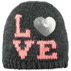 Barts I Love Beanie Kids Ski Hat in Dark Heather