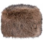Barts Fur Josh Ski Hat in Heather Brown