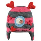 Barts Monster Beanie Kids Ski Hat in Rose