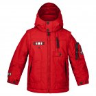 Poivre Blanc Junior Boys Ski Jacket in Flamboyant Red