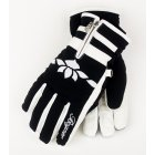 Bogner Cynthia Girls Ski Glove in Off White and Black