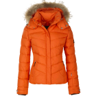 Bogner Sally D Ski Jacket Premium Trim Edition in Orange