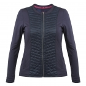 Poivre Blanc Womens Tennis Jacket In Marina Blue
