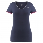 Poivre Blanc Womens Tennis V Neck T Shirt In Navy and Wine Red