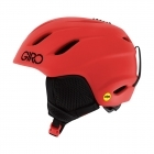 Giro Nine JR MIPS Junior Ski Helmet in Matte Bright Red