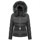 Poivre Blanc Belted Womens Ski Jacket in Black
