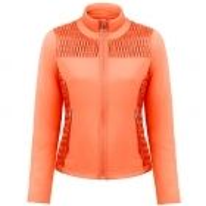 Poivre Blanc Stretch Fleece Jacket In Fiesta Orange