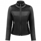 Poivre Blanc Stretch Fleece Jacket In Black