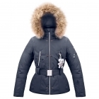 Poivre Blanc Belted Junior Girls Ski Jacket in Gothic Blue