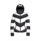 Goldbergh Mitsuko Womens Ski Jacket in Black and White