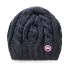 Canada Goose Chunky Cable Knit Womens Hat In Navy