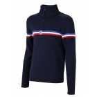 Fusalp Wengen II Mens Knit Midlayer Top in Navy