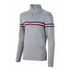 Fusalp Wengen II Mens Knit Midlayer Top in Grey