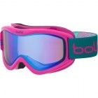 Bolle Volt Plus Kids Ski Goggles in Pink Blocks with Aurora Lens
