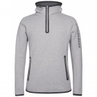 J.Lindeberg Logo Hood Midlayer Top in Stone Grey