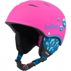Bolle B-Free Junior Ski Helmet in Soft Neon Pink Blocks