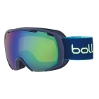 Bolle Royal Kids Ski Goggles in Blue Spray With Green Emerald