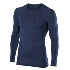 Falke Mens Wool Tech LS Shirt Regular Fit in Dark Night