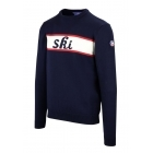 Fusalp Ski Out Mens Knit Midlayer Top in Navy