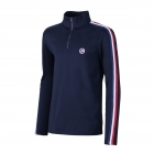 Fusalp Mario 1/2 Zip Mens Midlayer Top in Navy
