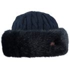 Barts Fur Cable Bandhat Ski Hat in Navy