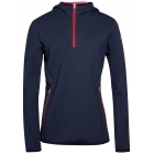 J.Lindeberg Logo Hood Womens Midlayer Top in JL Navy