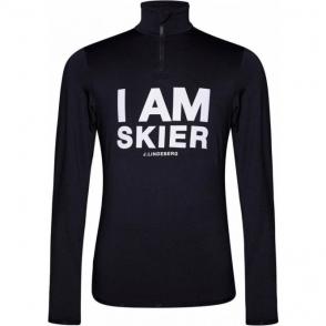 J.Lindeberg Skier TN Primaloft Midlayer Top in Print