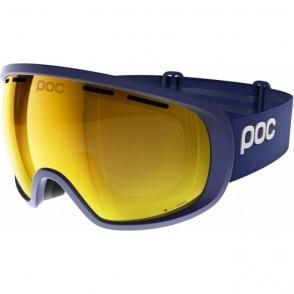 POC Fovea Clarity Ski Goggle in Basketane Blue With Spe Orange