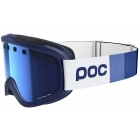 POC Iris Stripes Ski Goggle in Butylene Blue with Persimmon Blue Mirror
