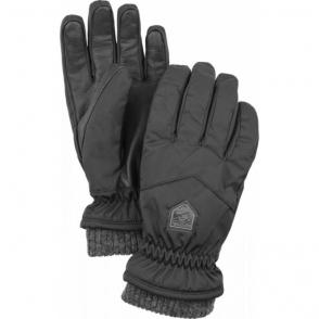 Hestra Womens Rib Knit Ski Glove in Black