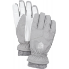 Hestra Womens Rib Knit Ski Glove in Light Grey