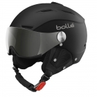 Bolle Backline Visor Premium Ski Helmet in Soft Black and White