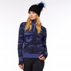 M.Miller Camo Zip Cashmere Top in Navy Camo