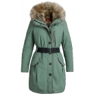 Parajumpers Borah Womens Down Winter Coat in Moss Green