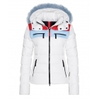 Bogner Lela D Womens Ski Jacket in White Stripe