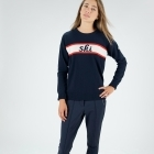 Fusalp Ski Out Knit Womens Midlayer in Navy