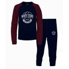 White Stone Kids Thermal Set in Navy