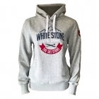 White Stone Womens Hooded Top in Grey