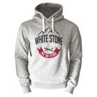 White Stone Mens Hooded Top in Grey