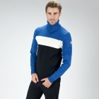 Fusalp Chalet Mens Knit Midlayer Top in Black and Blue