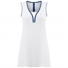Poivre Blanc Womens Tennis Dress in White and Scuba Blue
