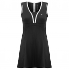 Poivre Blanc Womens Tennis Dress in Black and White